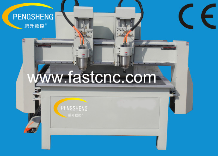 Double heads cnc router PC-1218D_PC-1224D